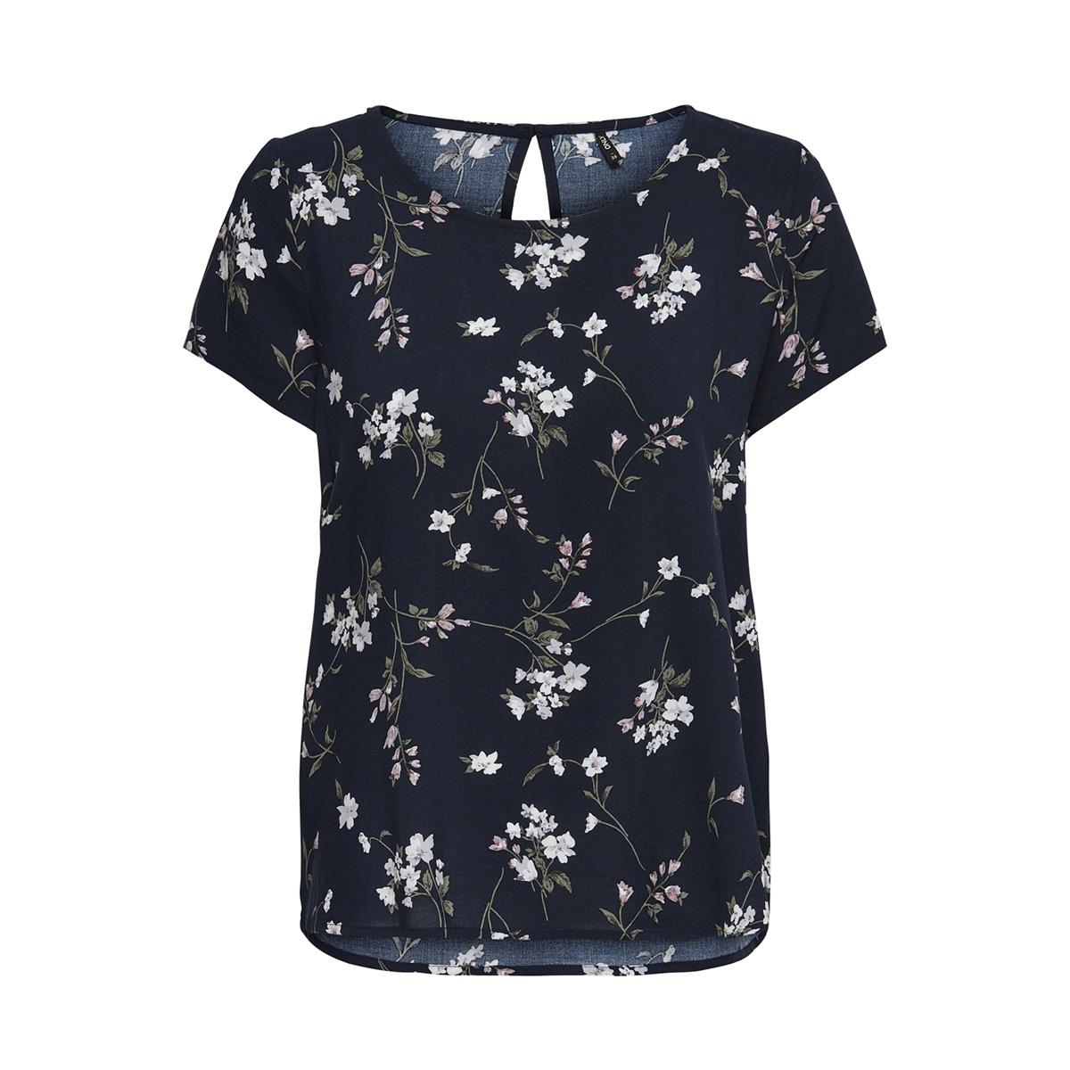 onlfirst ss mix aop top  noos wvn 15138761 only t-shirt night sky/flowers aw