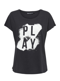 Only Play Sport shirt onpDITZY LOOSE SS TEE 15153960 Black/W.WHITE