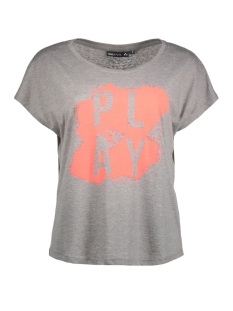 Only Play Sport shirt onpDITZY LOOSE SS TEE 15153960 Medium Grey Melange/W.NEON PU