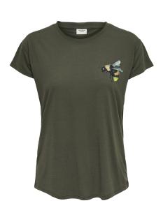 Jacqueline de Yong T-shirt JDYNIXON S/S PRINT TOP 07 JRS 15158503 Kalamata/BEE