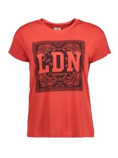 Jacqueline de Yong T-shirt JDYNIXON S/S PRINT TOP 07 JRS 15158503 Molten Lava/LDN