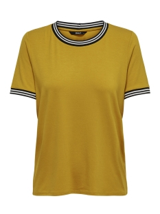 Only T-shirt onlSPORT S/S TOP JRS 15172389 Golden Yellow/BLACK/WHIT