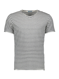 Jack & Jones T-shirt JORMEMO TEE SS V-NECK 12137757 Cloud Dancer/SLIM - VN