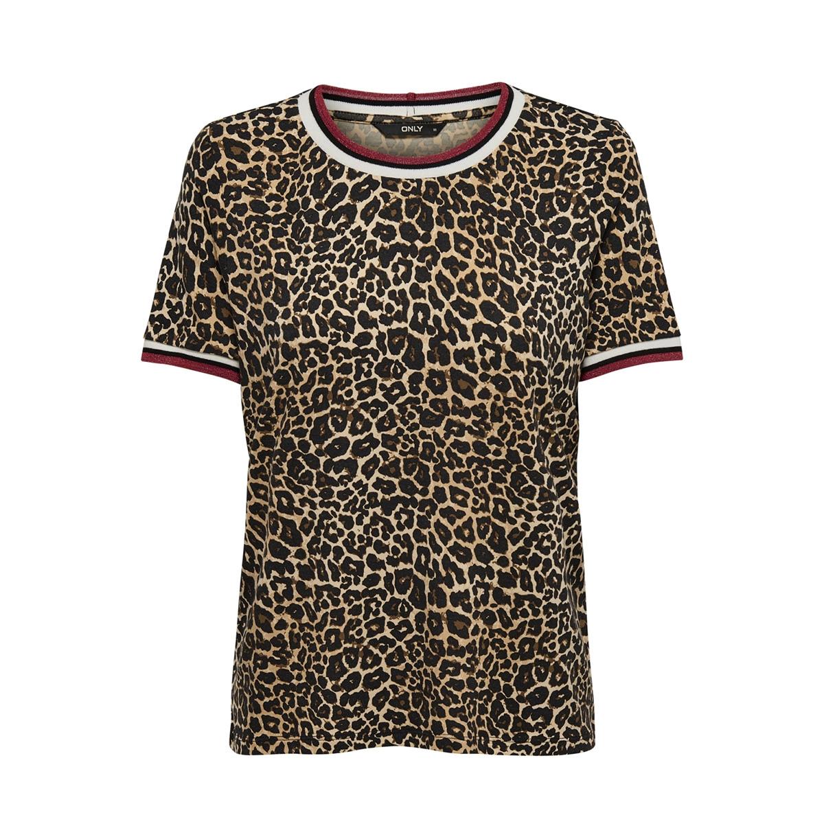 onlsport s/s top jrs 15172389 only t-shirt black/goji berry