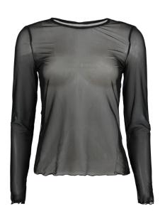 Vero Moda T-shirt VMSAGA L/S MESH BLOUSE VIP 10208122 Black