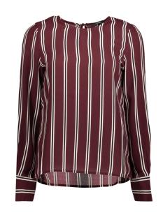 Vero Moda T-shirt VMGABBY L/S STRIPE TOP 10206519 Winetasting/CLASSIC