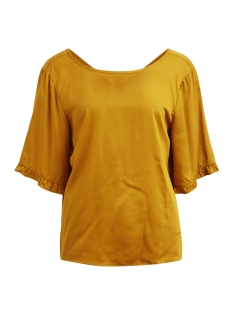 Object T-shirt OBJANNA 2/4 TOP PB4 23027023 Buckthorn Brown