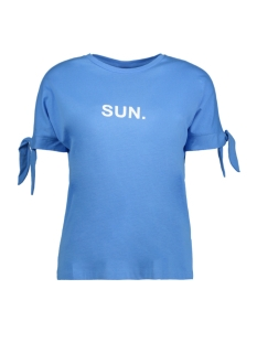 Noisy may T-shirt NMDAYS S/S TOP SSX7 27005142 Azure Blue