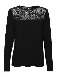 vmalberta lace l/s top  noos 10197206 vero moda t-shirt black