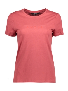 Vero Moda T-shirt VMFRANCIS SS TOP BOX GA 10200005 Mineral Red/CHINESE