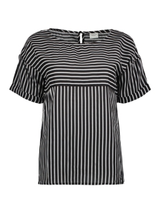Jacqueline de Yong T-shirt JDYELAINE 2/4 STRIPE TOP WVN 15159461 Black/CLOUD DANCER