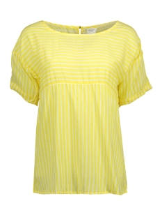 Jacqueline de Yong T-shirt JDYELAINE 2/4 STRIPE TOP WVN 15159461 Aurora/CLOUD DANCER