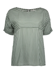 Jacqueline de Yong T-shirt JDYELAINE 2/4 STRIPE TOP WVN 15159461 Kalamata/CLOUD DANCER