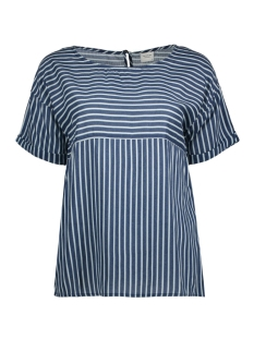 Jacqueline de Yong T-shirt JDYELAINE 2/4 STRIPE TOP WVN 15159461 Dress Blues/CLOUD DANCER