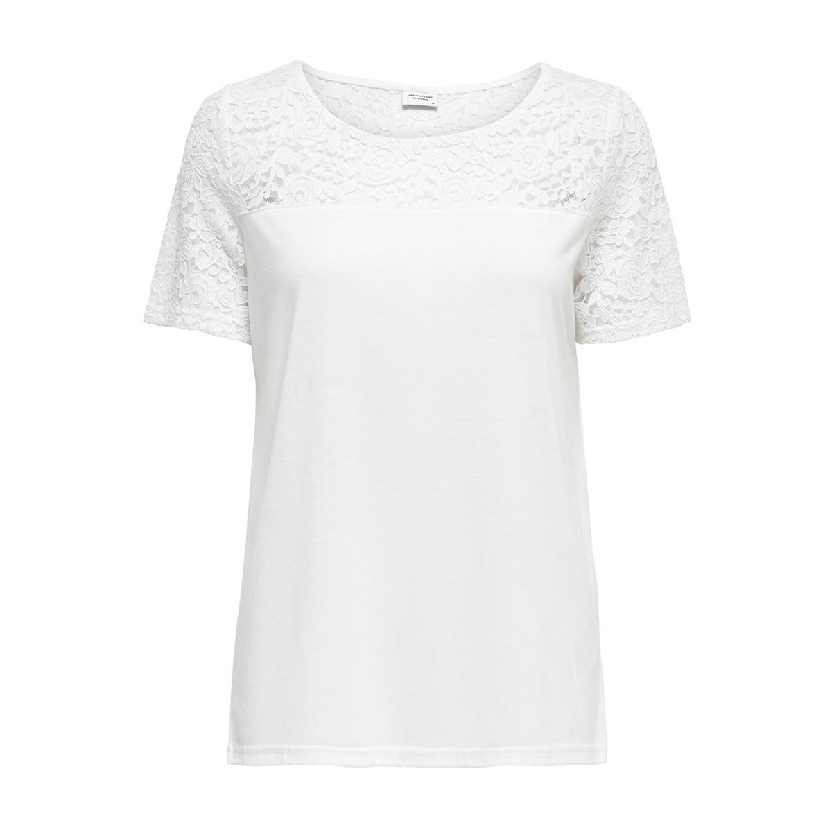 jdykimmie s/s top jrs 15161149 jacqueline de yong t-shirt cloud dancer/dtm lace