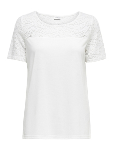 Jacqueline de Yong T-shirt JDYKIMMIE S/S TOP JRS 15161149 Cloud Dancer/DTM Lace