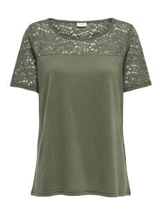 Jacqueline de Yong T-shirt JDYKIMMIE S/S TOP JRS 15161149 Kalamata /DTM Lace