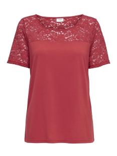 Jacqueline de Yong T-shirt JDYKIMMIE S/S TOP JRS 15161149 Molten Lava /DTM Lace