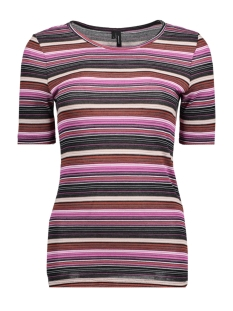 Vero Moda T-shirt VMVIELLA 2/4 MIDI TOP D2-6 10204530 Rose Violet/MULTI COLOR