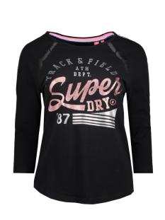 Superdry T-shirt G60001NR BASEBALL TOP WK9 BLACK