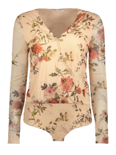 Vila T-shirt VIDANCER L/S BODYSTOCKING /RX 14050010 Peach Blush/Flower