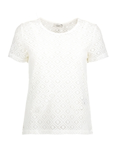 Jacqueline de Yong T-shirt JDYNEW TAG S/S LACE TOP JRS 15167279 Cloud Dancer/LACE 2