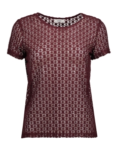 Jacqueline de Yong T-shirt JDYNEW TAG S/S LACE TOP JRS 15167279 Port Royale/LACE 1