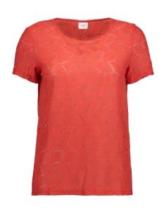 Jacqueline de Yong T-shirt JDYTAG S/S LACE TOP JRS RPT2 NOOS 15152331 Molten Lava