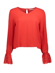 Vero Moda T-shirt onlSIMONA LS TOP  WVN 15162619 Goji Berry