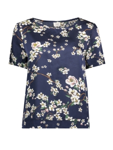 Jacqueline de Yong T-shirt JDYELLIOT S/S TOP WVN 15158022 Dress Blue/FLOWER