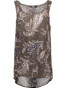 Only Top onlADELLE S/L TOP WVN 15163348 Tarmac/PAISLEY
