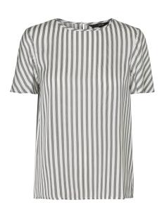Vero Moda T-shirt VMBRITT SS TOP 10201622 Snow White/BLACK