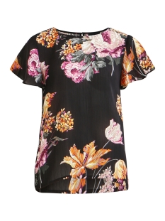 Object T-shirt OBJTROPI S/S LOOSE TOP APB 23029053 Black/TROPICAL AOP