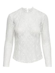 Only T-shirt onlKAYLA L/S LACE TOP JRS 15161610 Cloud Dancer