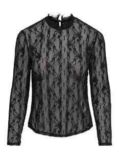 Only T-shirt onlKAYLA L/S LACE TOP JRS 15161610 Black