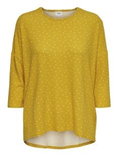Jacqueline de Yong T-shirt JDYNEW WINNER 3/4 AOP TOP JRS NOOS 15161919 Golden Spice/HEART