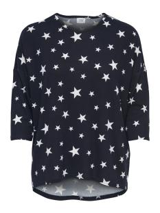 Jacqueline de Yong T-shirt JDYNEW WINNER 3/4 AOP TOP JRS NOOS 15161919 Night Sky/CLOUD DANCER