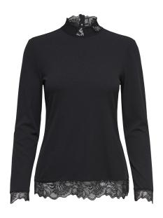 Jacqueline de Yong T-shirt JDYAPPLE L/S LACE TOP JRS 15158536 Black