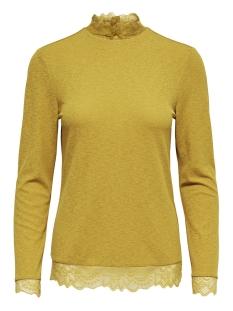 Jacqueline de Yong T-shirt JDYAPPLE L/S LACE TOP JRS 15158536 Golden Spice