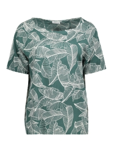 Noisy may T-shirt NMMAGIC S/S RAGLAN TOP V 4 27003312 Mallard Green/WHITE LEAVES