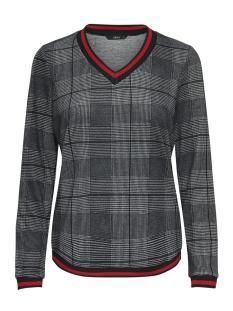 Only T-shirt onlSELCO MISSY L/S TOP JRS 15157681 Phantom/CHECK