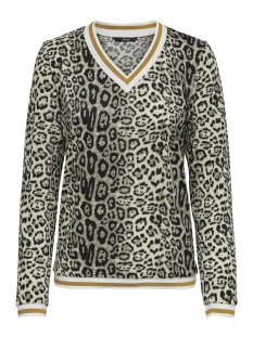 Only T-shirt onlSELCO MISSY L/S TOP JRS 15157681 Silver Mink/LEO