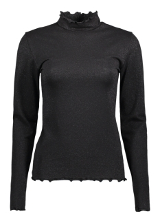 Only T-shirt onlMOLLY GLIMMER LS HIGHNECK JRS 15166660 Black