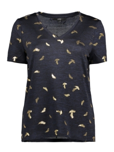 Vero Moda T-shirt VMEFFIE SS TOP JRS 10204601 Night Sky/MELANGE W.