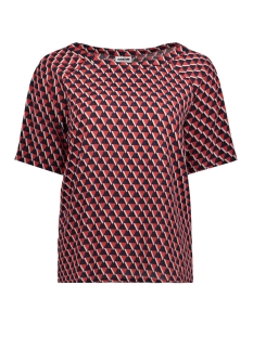 Noisy may T-shirt NMLULU S/S PRINTED TOP 5 27003225 Molten Lava/TRIANGLE