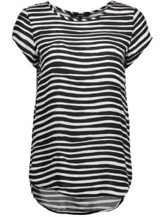 Vero Moda T-shirt VMBOCA SS BLOUSE MULTI PRINTED 10132802 Black/STRIPE COL