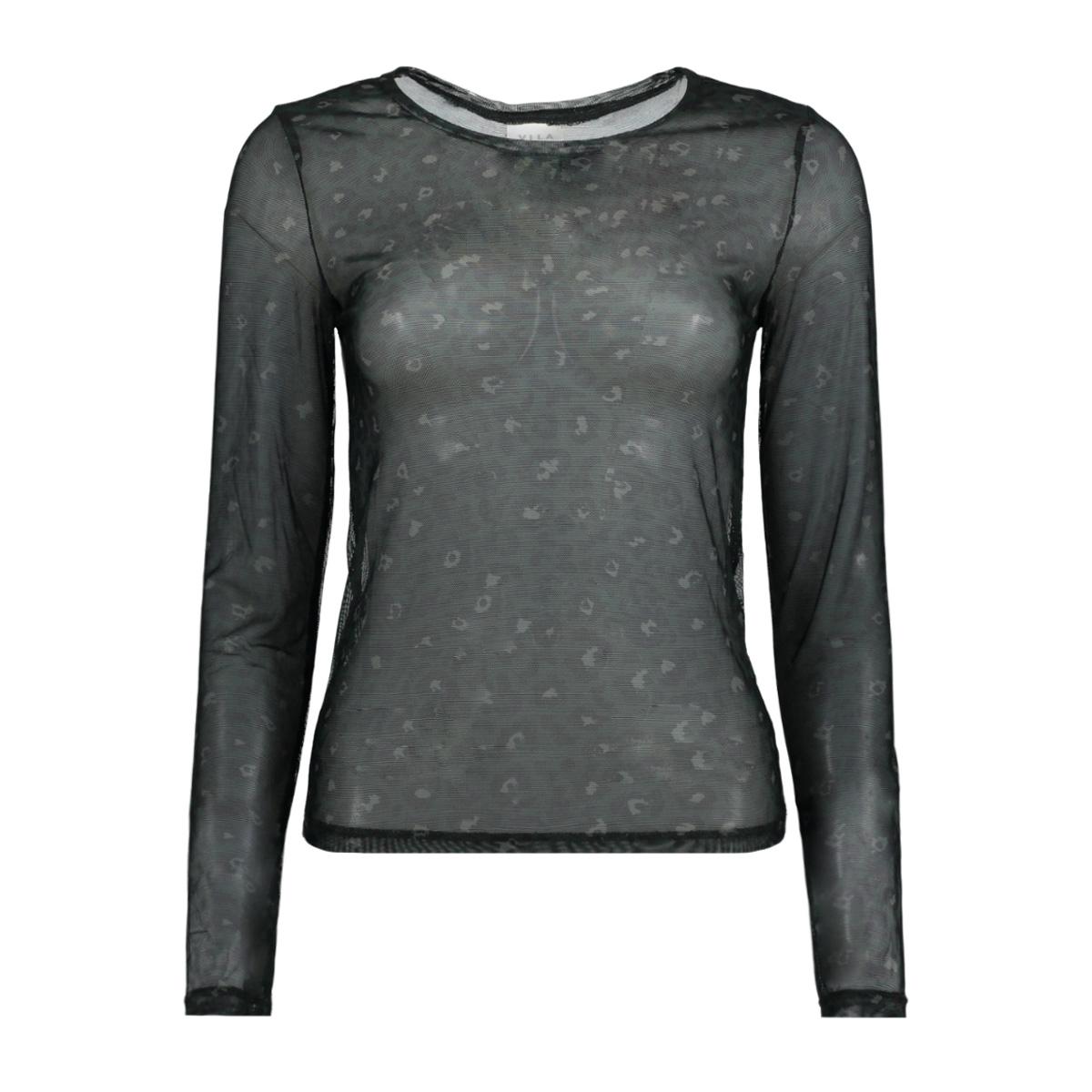 visis milereda l/s t-shirt/pb 14048002 vila t-shirt pine grove/milreda