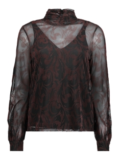 Vero Moda Blouse VMMALIKKA LS TOP 10204414 Black/WINETASTING