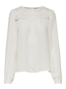 Only T-shirt onlPISA LS TOP WVN 15162703 Cloud Dancer
