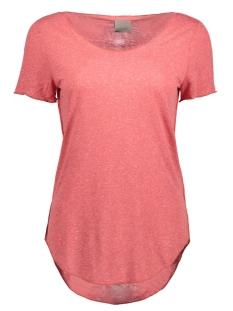 Vero Moda T-shirt VMLUA SS TOP NOOS 10149900 Mineral Red